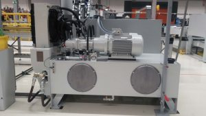 Hydraulic power unit for a production line