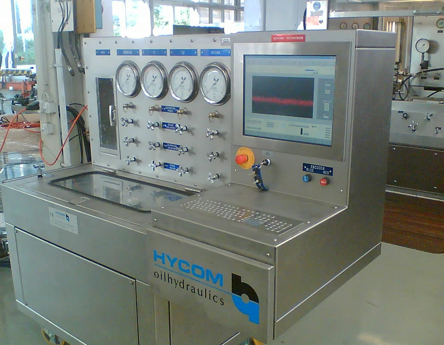 Component test benches for aircraft maintenance