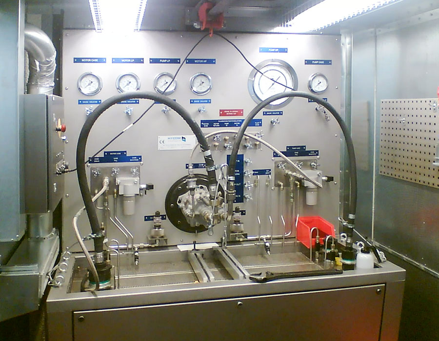 Rotating component test benches for aircraft maintenance