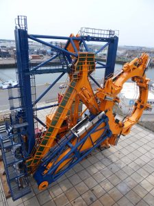 Monopile gripper frame equipped with complete hydraulic system supplied by Hycom