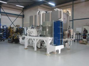 Diesel driven hydraulic power unit for water injection dredger