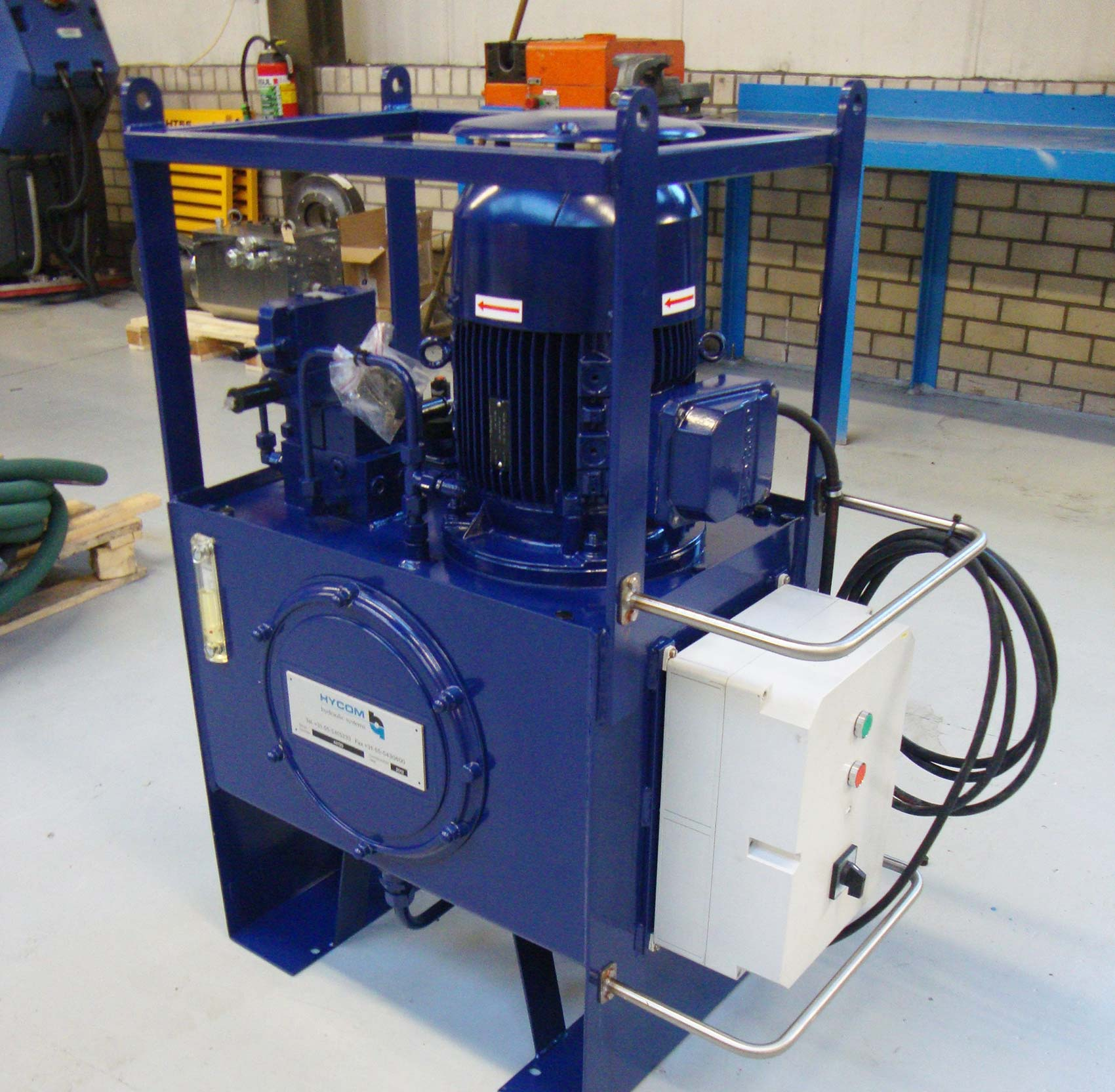 Hydraulic power unit for use on a press