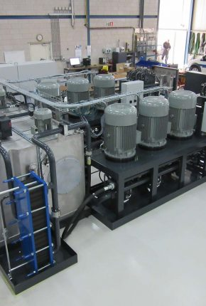 Multipurpose test rig hydraulic system