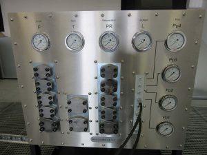 Operating panel Multipurpose test rig
