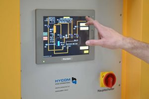 Control panel for the triple maintenance system