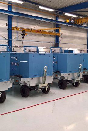 Hydraulic ground support equipment