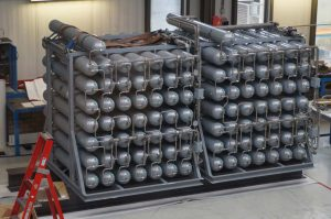 Nitrogensets for use on a heave compensated gangway