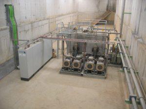 Hydraulics for aircraft hangar