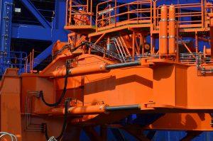 Hydraulic cylinders accumulators Monopile gripper