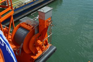 Manifold on hydraulic winch