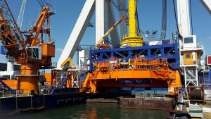 Hydraulics for Monopile gripper for use in Offshore-Wind