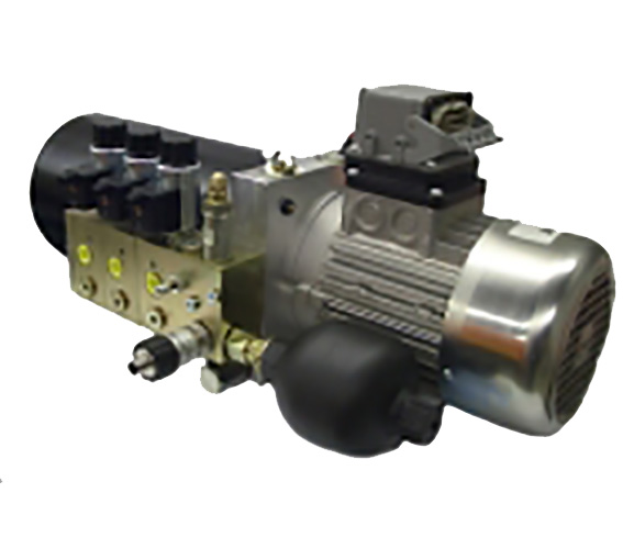 Compact power unit hydraulic system