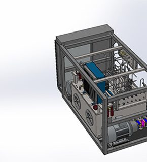 3D drawing of Hydraulic power pack