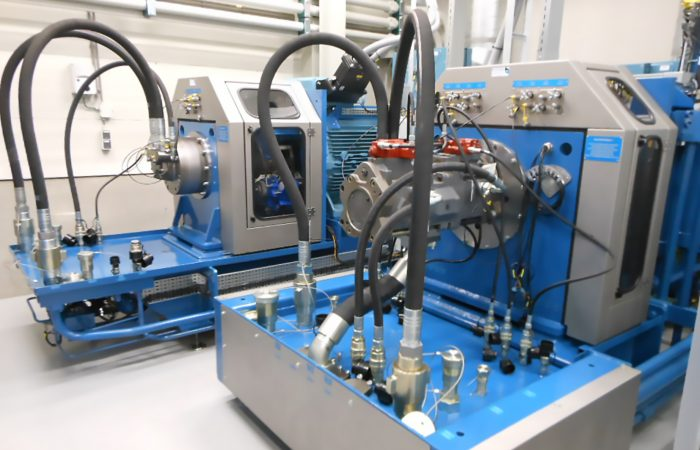 Hydraulic remanufacturing test bench